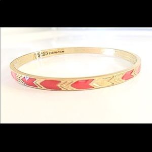BCBG Gold chevron Bangle Bracelet new